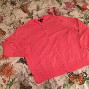 J Crew beautiful pink cardigan size large